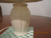 Table lamp, with whiteshade, from smoke and pet free home, �5