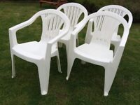 4 LOVELY GARDEN CHAIRS, FABULOUS CONDITION WITH CUSHIONS