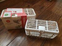 Baby bottle dishwasher baskets