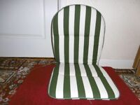 Set of 4 padded seat and back rest cushions for garden chairs