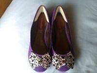 Freespirit New & unworn purple ballerina shoes size 5