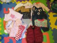 Baby girl winter cloths bundle. 3-6pounds