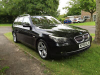 BMW 535d SE touring, excellent condition, roof mounted cycle rack included