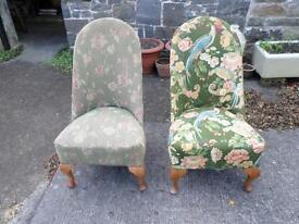 Pair of old nursing chairs