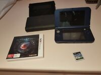 New 3DS XL metallic blue excellent condition with 2 games