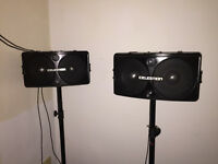 Pair of Celestion SR1 PA Speakers & Covers