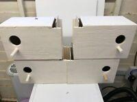7 budgie nest boxes