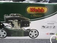 Brand new petrol lawnmower