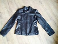 Hugo Boss ladies soft brown leather NZ lambskin jacket - womens size 8