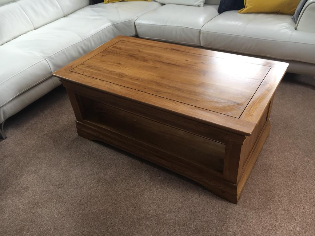 Solid Oak Furniture Land Coffee Table