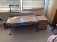 Moll quality child's study desk and chair