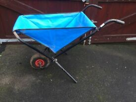 Folding wheelbarrow ideal for taking to events