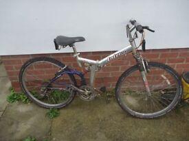 "26"" Wheel Foldable 21 Gear Bike with suspension."