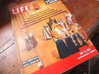 Life Magazine – July 1953 Coronation + Audrey Hepburn + Doris Day, Elizabeth Taylor + Morris Cars