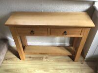 Oak Console/Hall Table