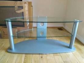 Two tier Glass TV unit