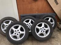 Alloy wheels with tyre