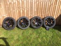 "Wolfrace Urban Racer 17"" 4 studs Multi Fit 4x100 4x114 Alloy Wheels Corsa D"
