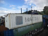 40 foot ft x 8, 9 foot ft High, Shipping Container with Wooden Shelving
