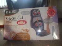 Homedics Shiatsu Massager, with various settings and hear, hardly used
