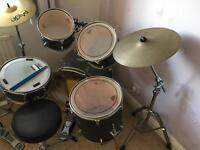 Mapex 5 piece drum kit plus pedals, 4 cymbals and Stool