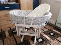 Baby basket with rocking stool