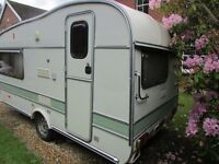 Classic caravan with awning