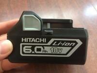 Brand New Hitachi 6.0Ah BSL1860 Battery 18v Cordless Li-Ion Brushless Impact Driver / Hammer Drills
