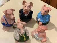 NatWest Wade Pigs with original stoppers