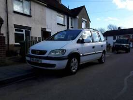 Vauxhall Zafira 12 months mot 7 seater