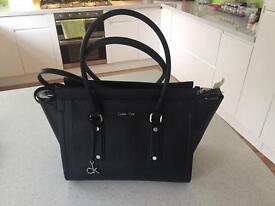 Calvin Klein Black Leather Handbag BNWT