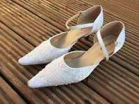 White Wedding and Prom Shoes, size 4.5-5, only £8