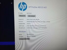 HP Pro One 400 all in PC in excellent condition complete with keyboard (touchscreen option)
