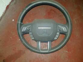 RANGE ROVER EVOQUE STEERING WHEEL AND AIRBAG