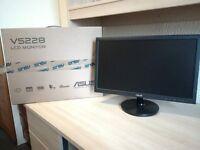 ASUS VS228 LCD Monitor - Like New with Box / Manual computer TV