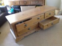 Chest of drawers, low level, 3 over 2
