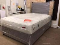 New, Double 4 Drawer Divan Bed & Pocket Sprung Memory Foam Mattress.