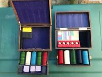Two vintage poker sets