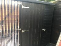 Outdoor dog kennel with run