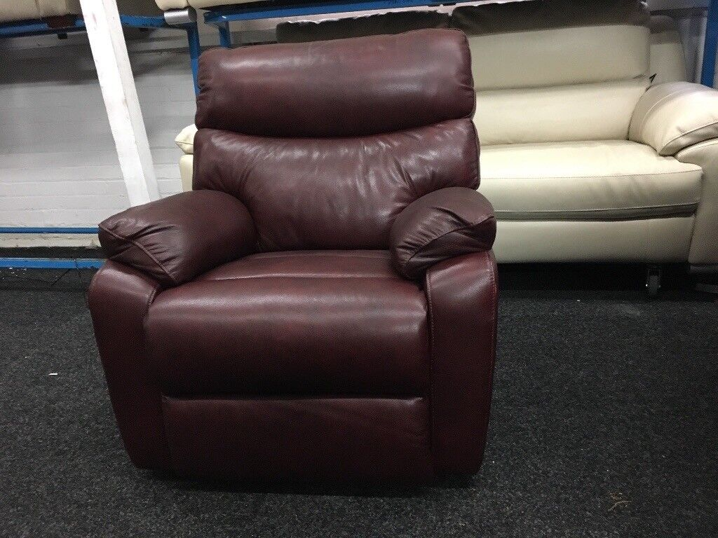 New/Ex Display Harrogate LazyBoy Leather 1 Seater Electric Recliner Chair Sofa
