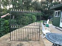 Pair 6ft Iron gates 6 x 6 including hinges
