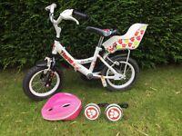 Apollo lulu girls bike 12' with helmet & stabilisers