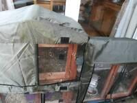 Rabbit/Guinea pig hutch+cover