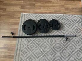 Barbell weight set body pump