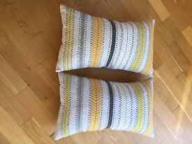Retro striped cushions