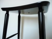 Stool, bar counter black laquered Habitat Talia Mid century style chair solid beech wood