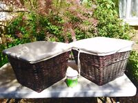 Nice Wicker Baskets with lining - £15 each or 2 for £20