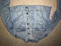 Retro denim topshop jacket size 10