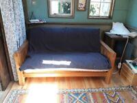 Futon Company 'OKE' 2 Seater Sofa - Solid oak