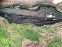 Wychwood c101 rods x3 with tracker rod hold-all